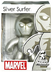 marvel mighty muggs series figure silver